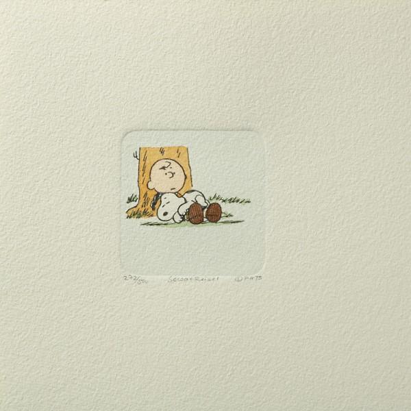 Charles M. Schulz: Peanuts - Charlie Brown und Snoopy, 05, groß. Original-Radierung
