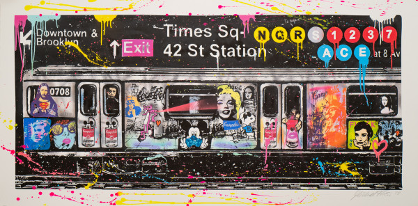 Michel Friess: NY Subway, Siebdruck, Auflage 31/50, handsigniert