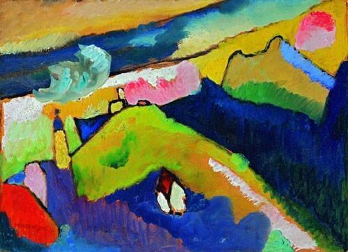 Wassily Kandinsky | Berglandschaft mit Kirche, 1910