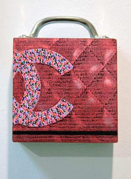 Kati Elm | Gucci-Tasche | CC | klein, rosa, mit Henkel