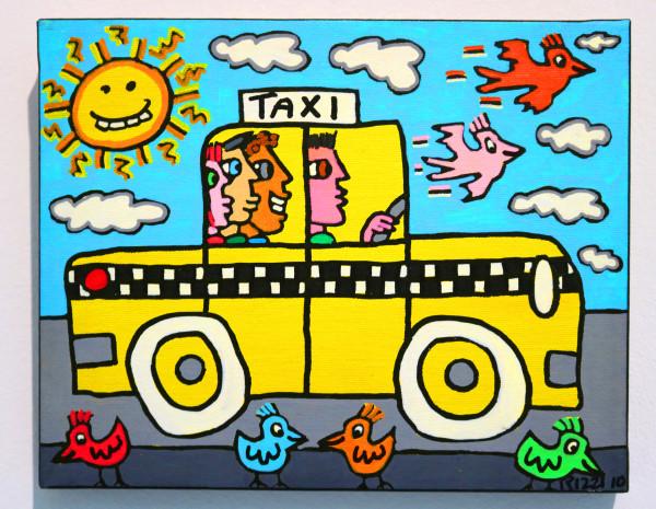 "James Rizzi: ""N.Y.C. Taxi Ride"", 2010 (Acryl), Unikat (signiert)"