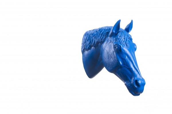 Ottmar Hörl: Pferdekopf, 2005 (blau)