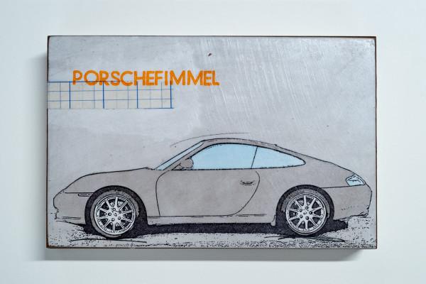 Jan M. Petersen: Porschefimmel grau, Auflage 2/12, rückseitig signiert