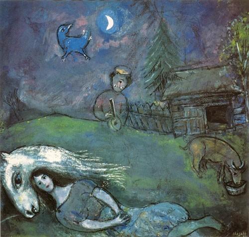 Marc Chagall | Ländliches Idyll