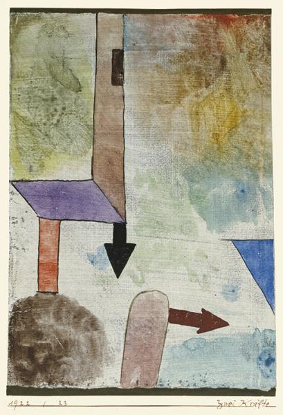 Paul Klee | Zwei Kräfte, 1922, 23