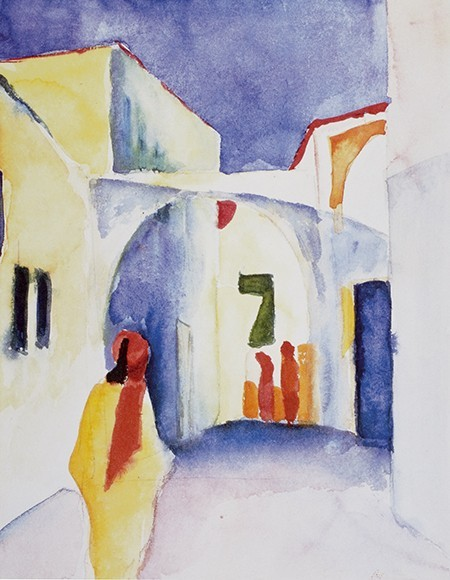 August Macke | Blick in die Gasse, 1914