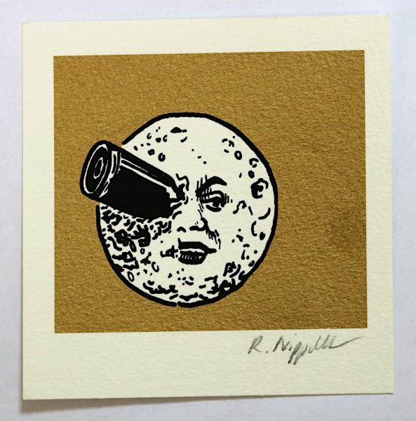 Voyage dans la Lune (Georges Méliès) (Hollywood-Edition) | Siebdruck | gold