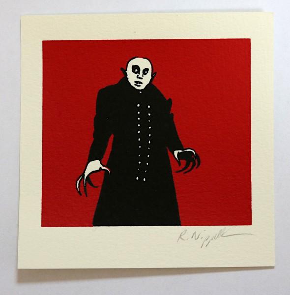 Nosferatu (Max Schreck) | Siebdruck auf Büttenpapier | rot