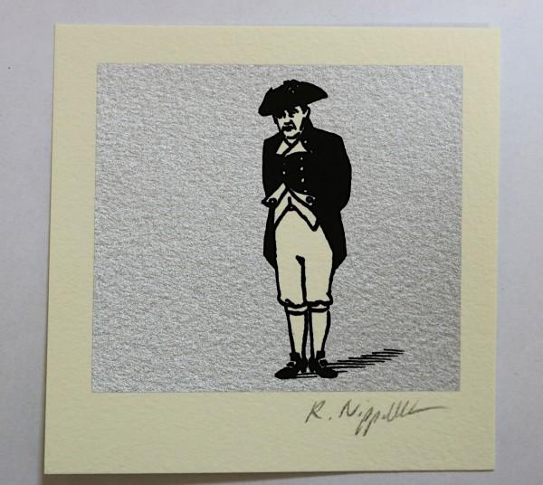 Charles Laughton | Siebdruck auf Büttenpapier | silber