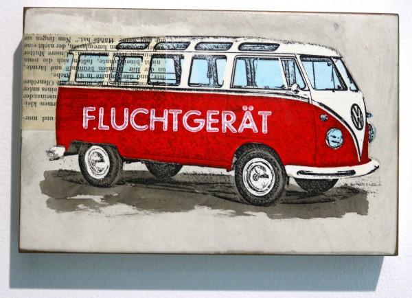 Jan M. Petersen | FLUCHTGERÄT (VW Bus, rot)