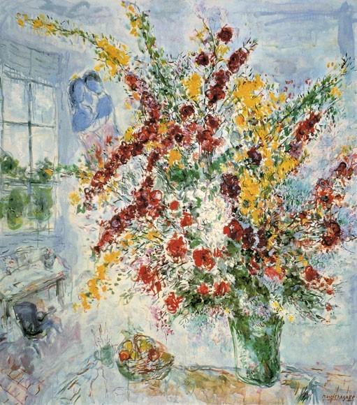 Marc Chagall | Strauß am Fenster, 1969