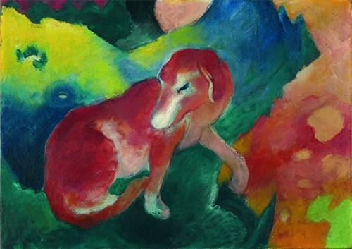 Franz Marc | Der rote Hund, 1911