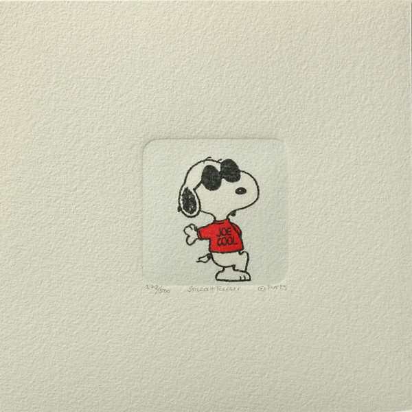 Charles M. Schulz: Peanuts - Snoopy 04 , klein. Original-Radierung