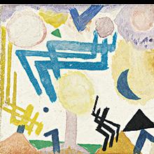 Paul Klee | Landschaftliches Hieroglyph mit Betonung des Himmelblau, 1917, 104
