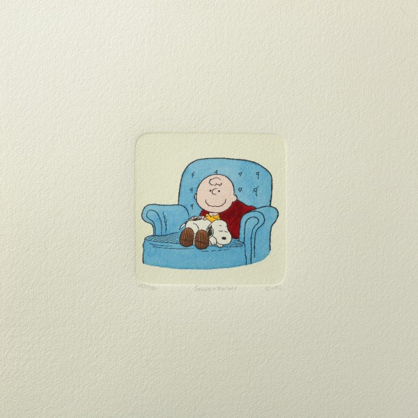 Charles M. Schulz: Peanuts - Charlie Brown und Snoopy, 03, medium. Original-Radierung