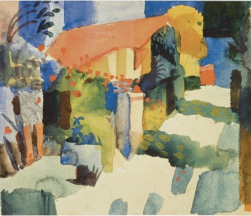 August Macke | Haus im Garten, 1914