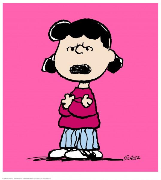 Charles M. Schulz | Lucy - Pink| Handnummeriert