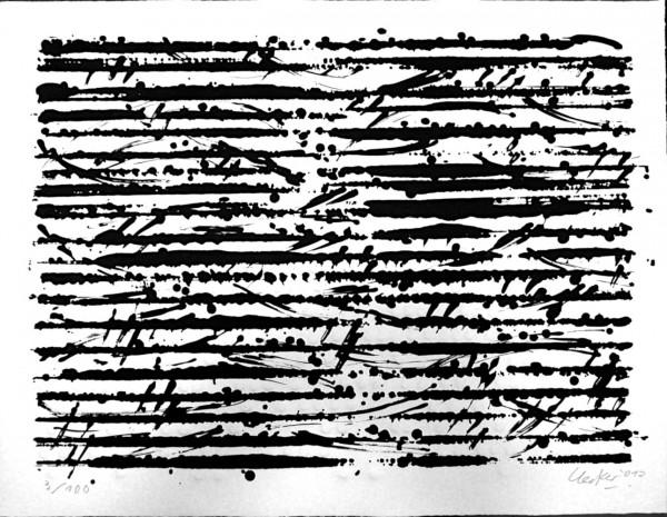 Günther Uecker: Optische Partitur - Mozart 2012 | nummeriert & signiert