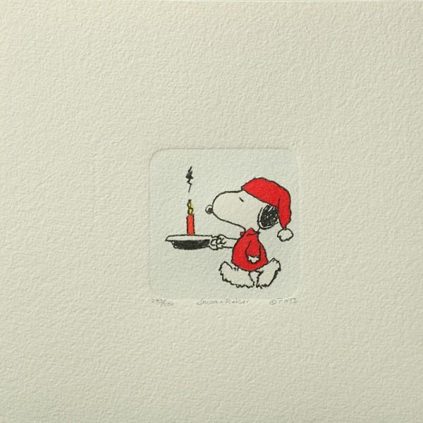 Charles M. Schulz: Peanuts. Snoopy, 03, klein. Original-Radierung