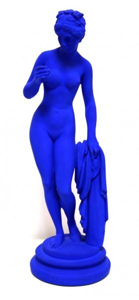 Jo Mazzoni | Venus von Milo | Skulptur | blau | signiert