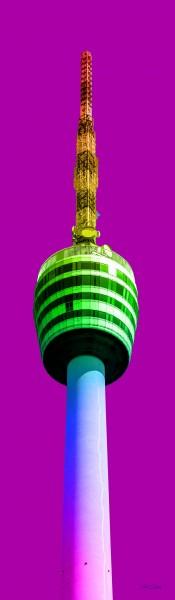 Fernsehturm Regenbogen | Photoart in Galeriequalität