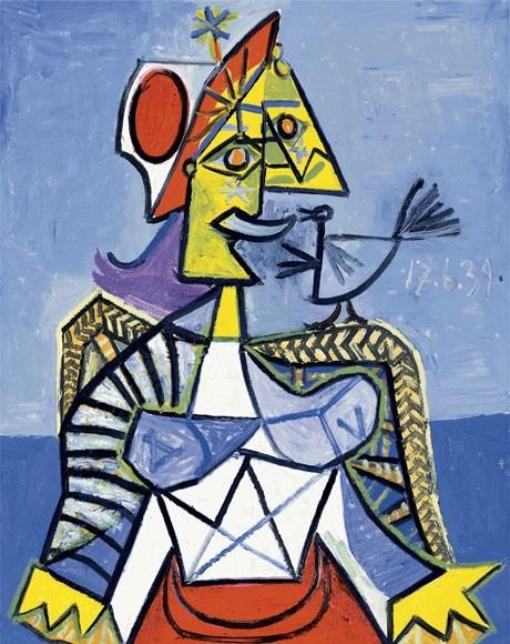 Pablo Picasso | Frau mit Vogel (Dora Maar), 1939 | Kunstdruck