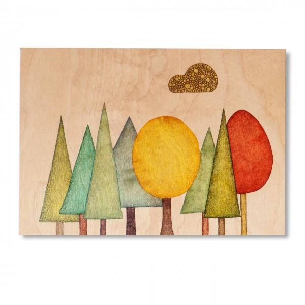Ask a Duck | Holzbild - Bäume