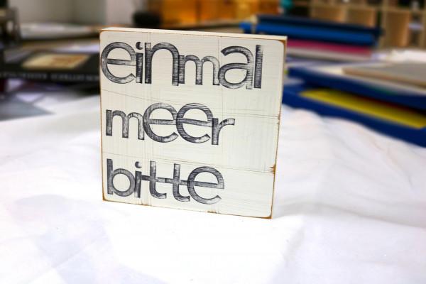 Indra Ohlemutz: einmal meer bitte (15 x 15 cm)