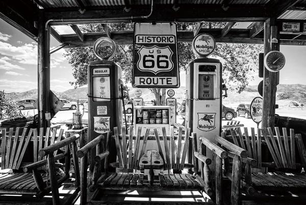 Route 66 sw | Digitaldruck auf Sicherheitsglas