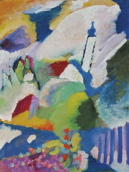 Wassily Kandinsky | Murnau mit Kirche I, Sommer 1910