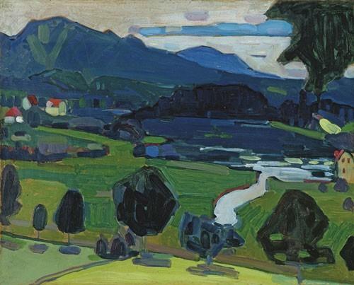Wassily Kandinsky | Murnau - Blick über den Staffelsee, Sommer 1908