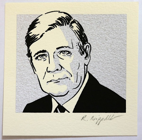Robert Nippoldt | Helmut Schmidt (Berlin-Edition) | Siebdruck auf Büttenpapier | silber