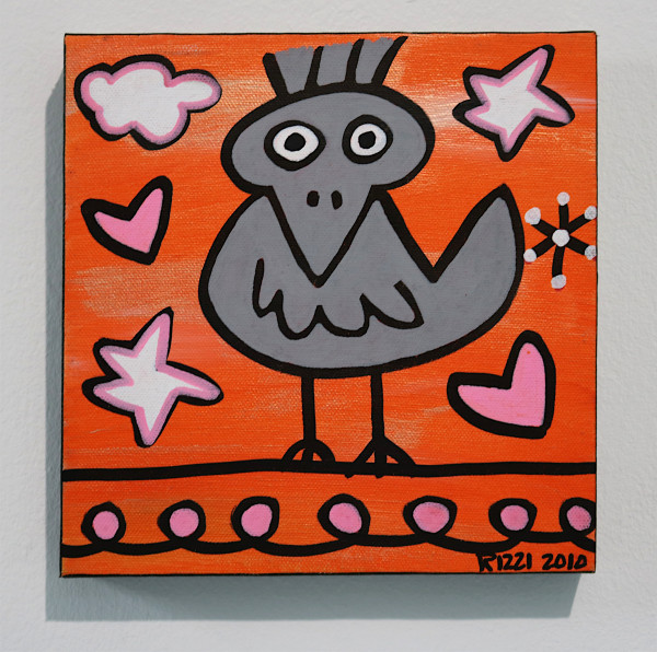 "James Rizzi: ""Just a Rizzi Bird"", 2010 (Acryl), Unikat (signiert)"