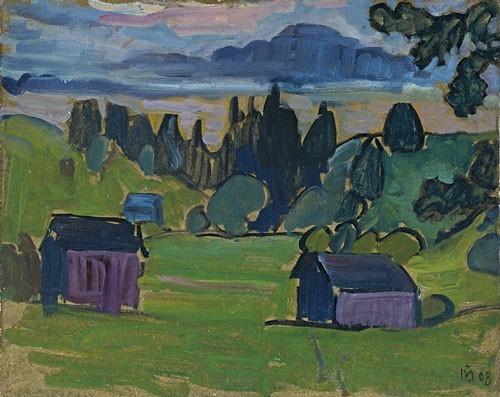 Gabriele Münter | Blick aufs Murnauer Moos, 1908