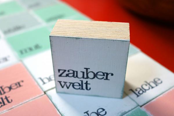 Indra Ohlemutz: zauberwelt (mini) | weiß | rosa | grau | türkis