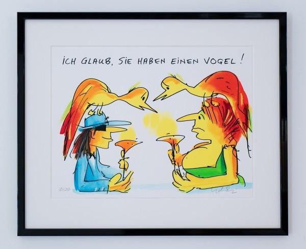 Udo Lindenberg: Ich glaub, Sie haben einen Vogel (gerahmt)