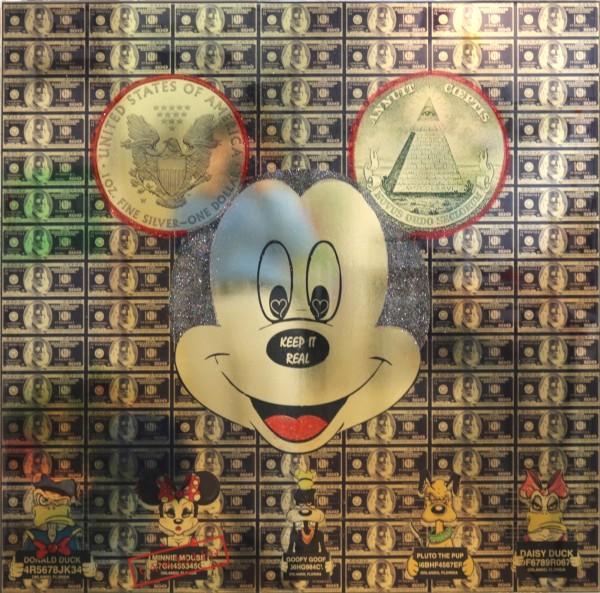 Diederik van Apple | Keep it real Mickey, gold