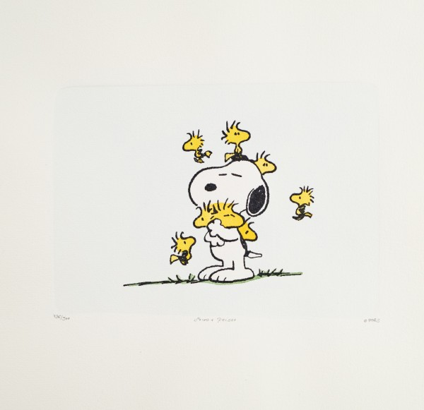 Charles M. Schulz: Peanuts. Snoopy und Woodstock, Original-Radierung / large