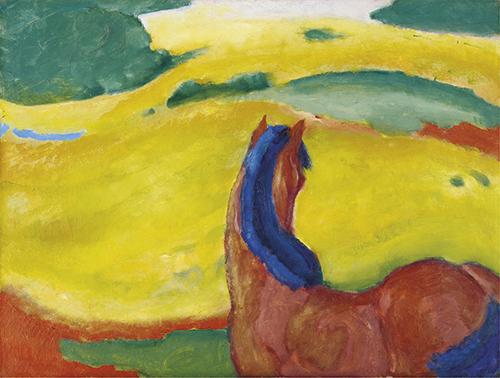 Franz Marc | Pferd in der Landschaft, 1910