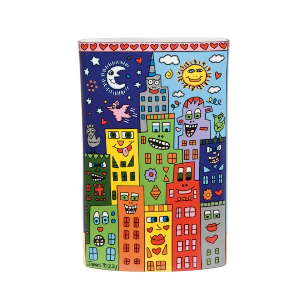 James Rizzi: It's Heart Not to Love My City - Vase
