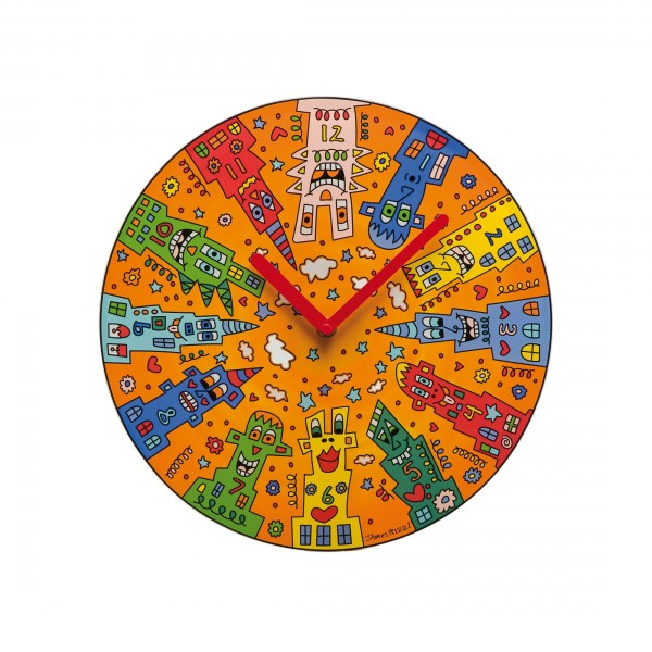 James Rizzi: City Sunset - Wanduhr