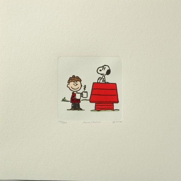 Charles M. Schulz: Peanuts - Charlie Brown und Snoopy, 01, medium. Original-Radierung