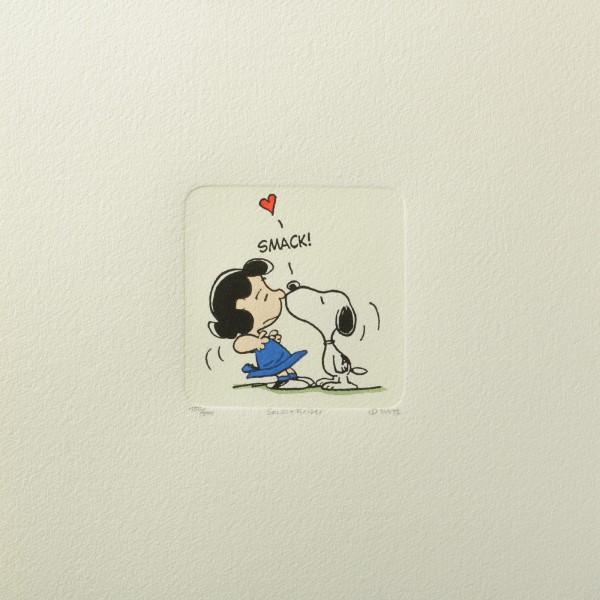 Charles M. Schulz: Peanuts - Lucy van Pelt und Snoopy, 01, medium. Original-Radierung